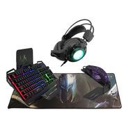 Combo Ultra Gamer Tech Negro Retroiluminado Gt1c