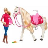 Boneca Barbie E Cavalo - Cavalo Dos Sonhos Frv36 - Mattel #