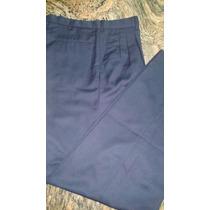 Pantalon De Gabardina Importada Color Azul T.30 Caballero
