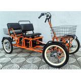 Quadriciclo Elétrico Dois Lugares 1000w 48v 18ah Wind Bikes