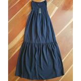 Vestido Largo Azul Oscuro Studio F