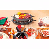 Raclette Grill Eléctrico Parrilla Nex Ovalado - Negro