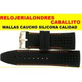 Malla Correa Silicona 24mm 26mm Reloj Tommy Hilfiger Festina
