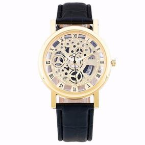 Reloj De Lujo Transparente Regalo Envio Gratis Skeleton