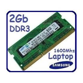 Memorias Ram De Laptop Samsung Ddr3 De 2 Gb/ 1600 Mhz