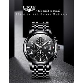 Relógio Masculino Aço Inox Importado Luxo Original Promoção.