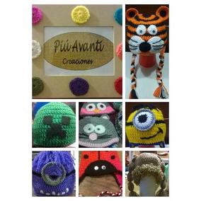 Gorros Tejidos Crochet Pack X 10 Unidades Niños Bebés Adulto