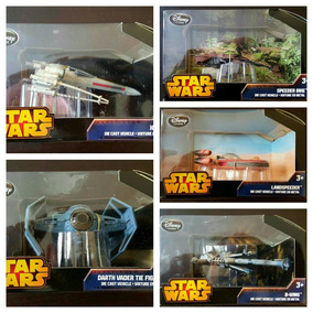 Star Wars Disney Store X-wing B-wing Tie Fighter Landspeeder