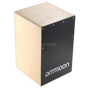 Ammoon Madera Cajón Mano Tambor Niños Caja Tambor De...