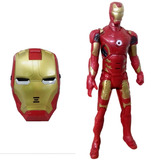 Kit Boneco Homem De Ferro Vingadores Marvel E Máscara Led