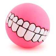 Brinquedo Pet - Bola Com Sorriso De Borracha Cor:rosa