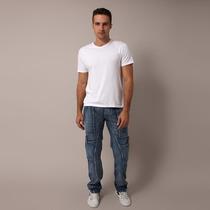 Calça Jeans Cargo Masculina