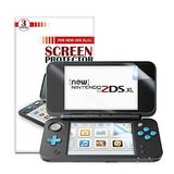 Nuevo Protector De La Pantalla De Nintendo 2ds Xl 6 Pcs / 3