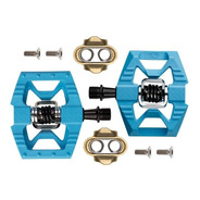 Pedales Crankbrothers Double Shot Mtb Doble Función Azules