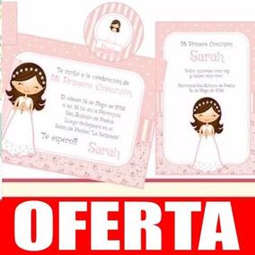 Kit Imprimible Nena Comunión Rosa Primera Comunión Bauti 21