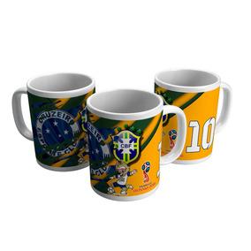 Caneca Porcelana Copa 2018 Torcida Brasil Cruzeiro Raposa