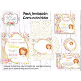 Kit Imprimible Editable Invitación Primera Comunión Nena 02