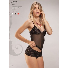 Conjunto De Culotte Y Camiseta En Tull Y Puntilla .t 1, 2y3