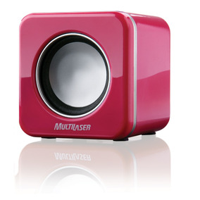 Caixa Som 2.0 4w Rms Mini Pink Piano Usb Sp103 Mania Virtual