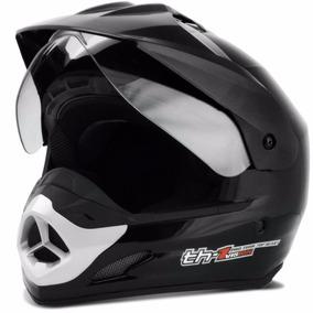 Capacete Moto Motard Pro Tork Th1 Helmet Preto Esportivo