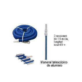 Kit De Aspirado Albercas Piscinas Limpieza Mantenimiento