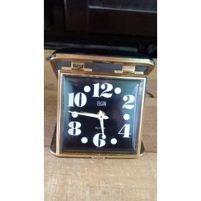 Reloj Despertador Antiguo Cuerda Marca Elgin Ferrocarrilero