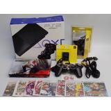 Play 2 Ps2 Slim Sony Progr,mada 10 Juegos Caja 2 Control