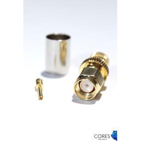 Conector Rp Sma Rg6 Para Antenas Wifi Conecta A Router Cores