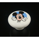 Tiradores De Cerámica Infantiles Mickey Mouse 38mm