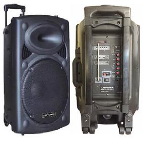 Caixa De Som 1800w Bluetooth Bateria Karaoke Microfone S/fio