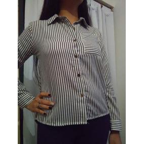 Camisa De Mujer A Rayas De Algodón Ideal Para Calzitas