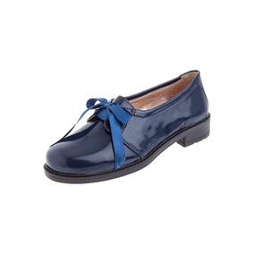 Zapato Tellenzi Dama Charol Azul