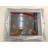 Bandeia Plastic Espelhada Com Pes Decorativa 10 Cores