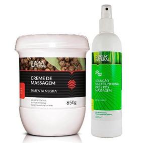 Kit Creme Pimenta Negra Solução Pré E Pós Massagem D