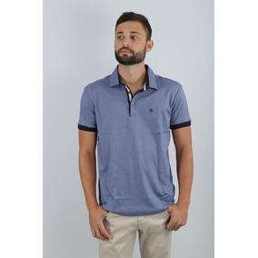 f663e47f9c Camisa Polo Dudalina Listrada Camisaria Azul Médio