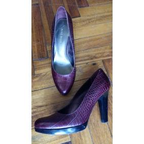 Zapatos Mujer Taco Stilettos Bordó Nine West 38 O 7y 1/2