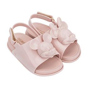 Melissa Mini Beach Slide Sandal + Disney Rosa Cameo L214a