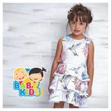 Vestido Infantil Estampado Florido Luluzinha Strass Flor