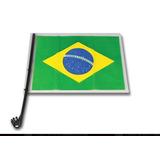 Bandeira Triangular Com Haste Para Vidro De Carro Brasil