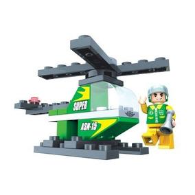 Blocos De Montar Helicoptero 33 Peças Coleçao Play Cis
