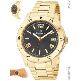 Relógio Champion Masculino Dourado Ca31239u Original + Nf