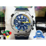 46144df0156 Relogio Novo Audemars Piquet Cronograf Azul Borracha Lxrs