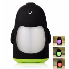 Humificador Pinguino Vaporizador Cambia D Color Aromaterapia