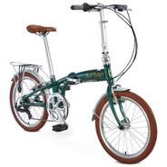 Bicicleta Bike Dobrável Aro 20 Com 6 Marchas Verde Durban