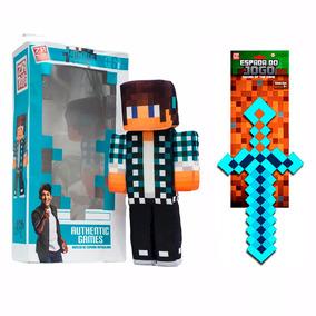Kit Boneco Authentic Games E Ferramenta Do Jogo - Zr Toys