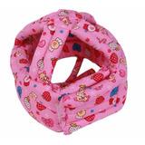 Capacete De Proteção Para Bebê Engatinhar - Cor Rosa Menina