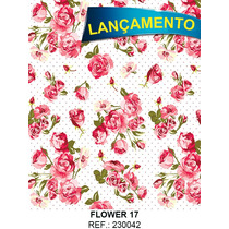 Papel Parede Adesivo Contact Flores Flower 17 - 45cm X 10mts