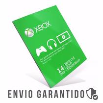Xbox Live Gold Cartão 14 Dias Usa Br Código 25 Dígitos