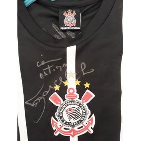 Camiseta Corinthians Autografada Pelo Marcelinho Carioca a46ee69fc5c73