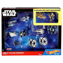 Set 11 Nave Hot Wheels Star Wars Coleccion Heroes Y Villanos
